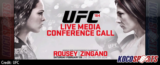 "Audio: Full coverage of the UFC 184 ""Rousey vs. Zingano"" Media Conference Call"