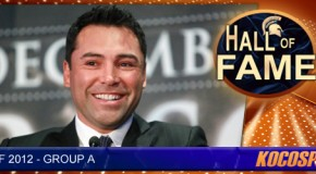Oscar De La Hoya inducted into the Kocosports.com Combat Sports Hall of Fame