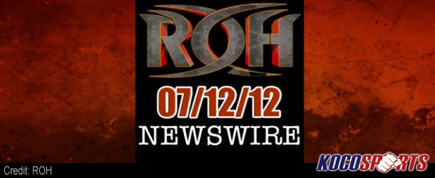 ROH Newswire – 07/12/12 – (Ring of Honor's return to Milwaukee, Wisconsin this Saturday)