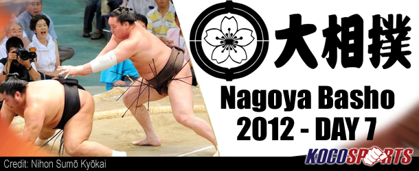 JSA Nagoya Basho – Day 7 Recap – 07/14/12 – (It's Groundhog Day!)