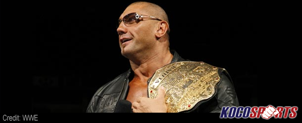 Dave Batista acts as flagbearer for Nonito Donaire during HBO boxing showdown