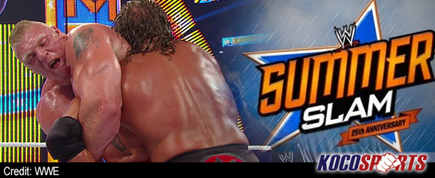 WWE SummerSlam results – 08/19/12 – (Lesnar scores a tapout victory over Triple H)