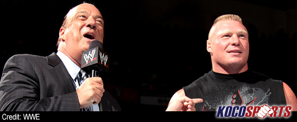 "Video: Brock Lesnar delivers the line of the night – ""Paul… say something stupid!"""