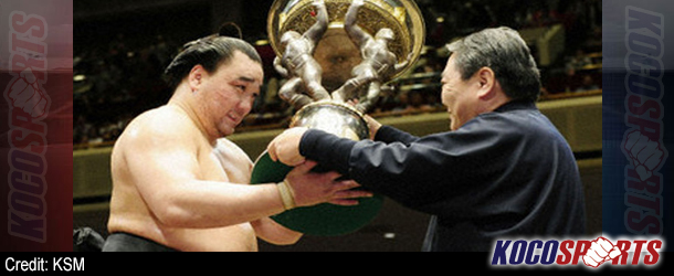Video: Harumafuji emerges victorious on the final day of the JSA Aki Basho