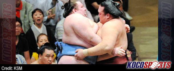 Kisenosato rebounds to keep pace with Hakuho, Harumafuji on Day 5 of Aki Basho