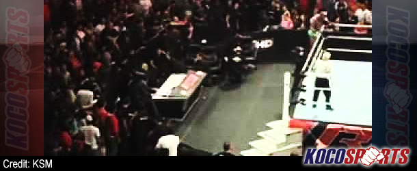"Video: ""Fan Cam"" footage of Jerry Lawler being stretchered from the arena last night at Raw"