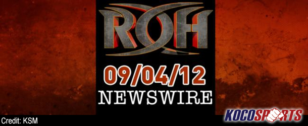 "ROH Newswire – 09/04/12 – (This Saturday in Charlotte is ""Caged Hostility"")"