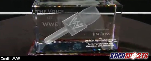 """Jim Ross declared """"The Voice of WWE"""" during Appreciation Night"""