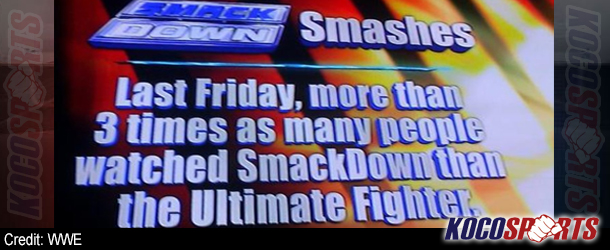 """WWE takes shot at UFC with Smackdown ratings """"smashing"""" the Ultimate Fighter"""
