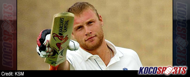 British cricket star, Andrew Flintoff, comes off canvas to win debut fight