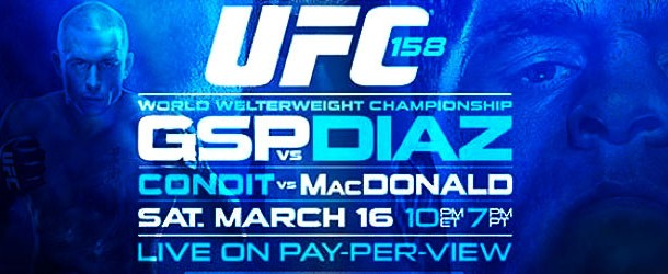 UFC 158 GSP vs. Diaz Results & Post-fight Press Conference