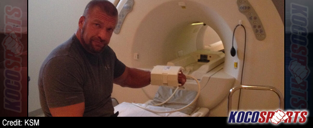 Doctors rule out scaphoid fracture; say Triple H has suffered a carpal sprain and contusion to his left wrist