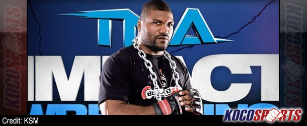 "Video: Quinton ""Rampage"" Jackson & Jason ""Mayhem"" Miller practice pro wrestling moves"