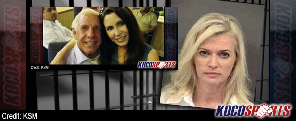 """Ric Flair's ex-wife, Jacqueline Beems, turns herself in to police; outstanding warrant for harassing Wendy """"Fifi"""" Barlow"""