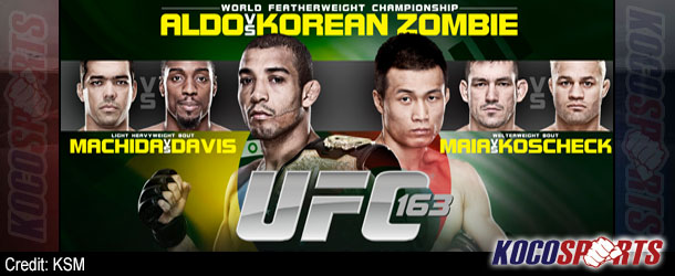 "Video: UFC 163 ""Aldo vs. Korean Zombie"" – 08/03/13 – (Full Show)"