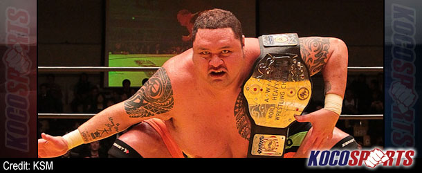 AJPW signs former sumo wrestler, Akebono Tarō, to an exclusive talent contract