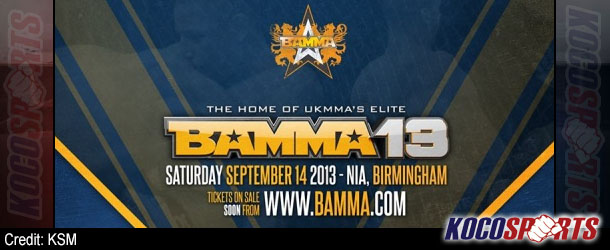BAMMA 13 results – 09/14/13 – (Four New Champions Crowned!)