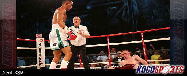 Impressive Galahad stops Dickens late to win British super-bantamweight title
