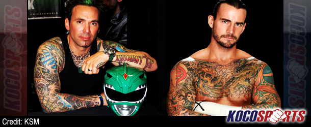 "Jason ""Green Ranger"" Frank of the Mighty Morphin' Power Rangers challenges WWE's CM Punk to an MMA fight!"