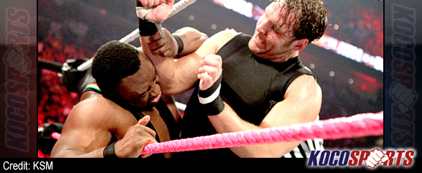 Langston and Ambrose both require medical attention following extremely physical title match at WWE Hell in a Cell