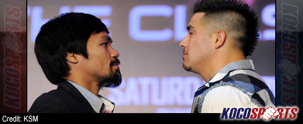 Video: Pacquiao and Rios go face-to-face to talk about their fight on Nov. 23rd