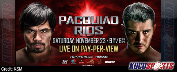 Video: Breaking coverage of the Pacquiao vs. Rios weigh-ins – 11/22/13 – (Live @ 6:30PM EST / 11:30 GMT)