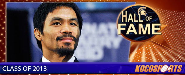Manny Pacquiao inducted into the Kocosports.com Combat Sports Hall of Fame