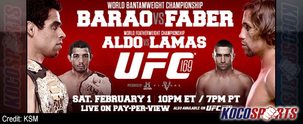 "Video: UFC 169 ""Barao vs. Faber"" – 02/01/14 – (Full Show)"