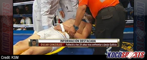 "Oscar ""Fantasma"" Gonzalez dies after being knocked out in the 10th round"