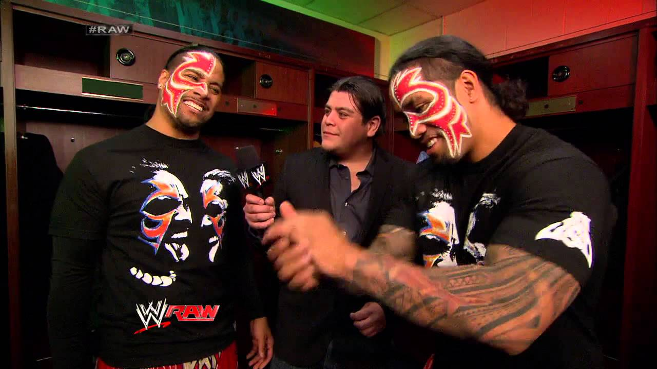 Ricardo is confronted by the Usos