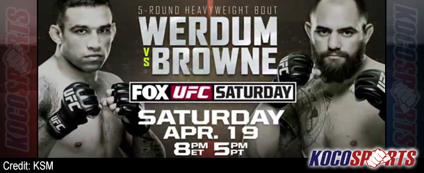 "Video: Breaking coverage of UFC on Fox – ""Werdum vs. Browne""  – 04/19/14 – (Live @ 6:00PM EST / 11:00PM GMT)"
