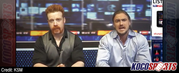 Video: Sheamus O'Shaunessy & Drew McIntyre try their hand as anchors on Sky Sports News