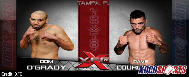 Dom O'Grady and Dave Courchaine to face off in lightweight contender bout at XFC 28