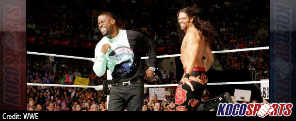 Kevin Hart talks with The Daily Show's Jon Stewart about hosting WWE Raw and being a wrestling fan