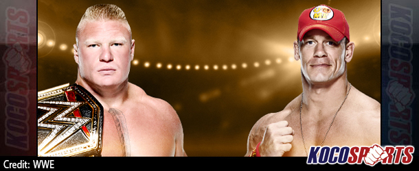"""John Cena to face Brock Lesnar in rematch for WWE Title at """"Night of Champions"""" on WWE Network"""