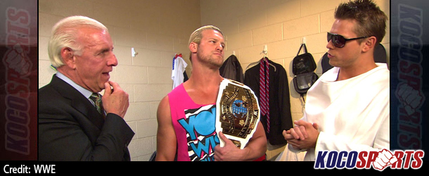 Video: WWE Monday Night Raw coverage – 08/18/14 – (Ric Flair congratulates Dolph Ziggler on his IC Title win)
