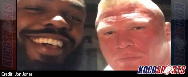 UFC stars Jon Jones & Ronda Rousey hang out with Paul Heyman & Brock Lesnar at WWE SummerSlam