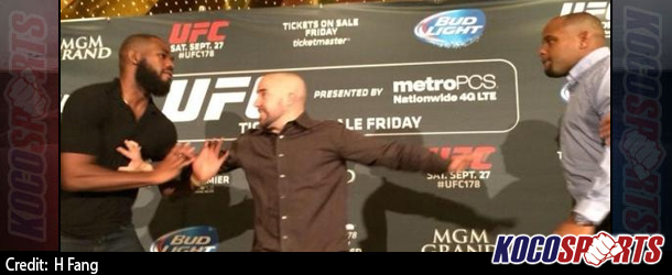 Video: Jon Jones brawls with Daniel Cormier at press event; both talk with ESPN; UFC promises ramifications!