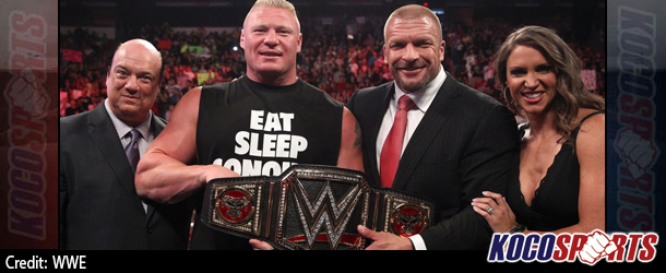 Video: WWE Monday Night Raw coverage – 08/18/14 – (Brock Lesnar receives the new WWE World Heavyweight Championship)