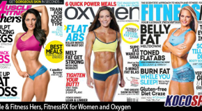 Fitness magazine covers feature popular figure trio; Muscle & Fitness Hers, FitnessRX for Women and Oxygen