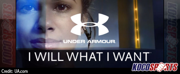 "Under Armour début their new ""I Will what I Want"" campaign"