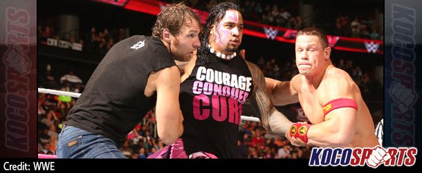 Video: WWE Monday Night Raw coverage – 10/13/14 – (John Cena & Dean Ambrose vs. Gold & Stardust vs. The Usos)