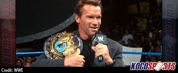 Arnold Schwarzenegger joins the celebrity wing of the WWE Hall of Fame Class of 2015