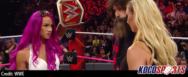 Video: Sasha Banks and Charlotte Flair sign contract for their WWE Raw Division Women's Championship match