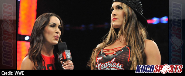 """Video: WWE Monday Night Raw coverage – 09/22/14 – (Nikki demands that Brie cease calling herself a """"Bella"""")"""