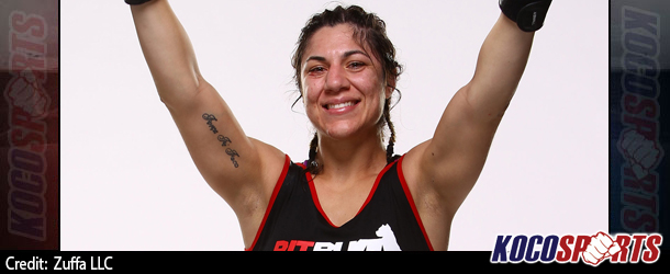 "Bethe Correia tells Meisha Tate: ""I never back away from a fight and I'll punch you right in the mouth"""