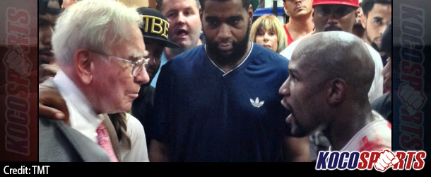 "Warren Buffett is now a member of Floyd Mayweather's ""Money Team"""