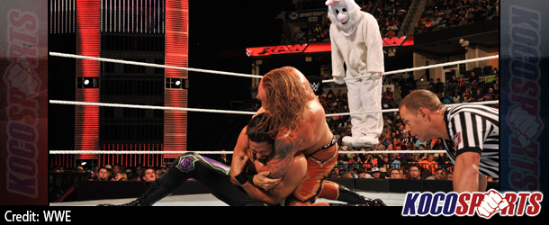 Video: WWE Monday Night Raw coverage – 09/22/14 – (Adam Rose & The Bunny vs. Heath Slater & Titus O'Neil)