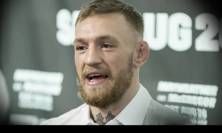 Video: Conor McGregor & his crew cause chaotic scene at UFC 223 media day