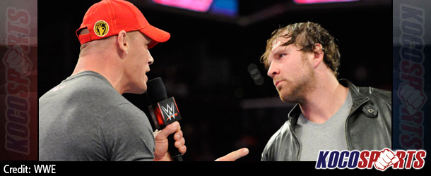 """WWE Monday Night Raw results & footage – 10/06/14 – (The Rock returns; John Cena and Dean Ambrose on """"Highway to Hell"""")"""